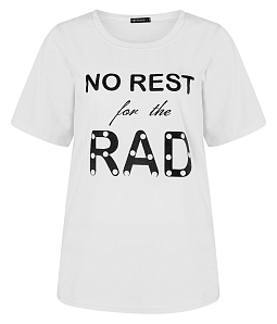 Áo thun nữ No Rest For The Rad