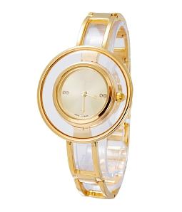 Đồng hồ nữ mặt tròn thời thượng - Vàng
