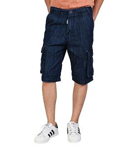 Quần short jean túi hộp phong cách
