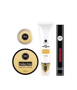Combo make up MH Natural Skincare CBMK06 son hồng cam