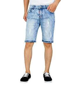 Quần short jean nam thời trang - Xanh