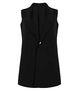 Áo khoác ghi lê ngắn thời trang - Đen