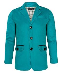 Áo khoác kaki nam Jacket viền túi - Xanh ngọc