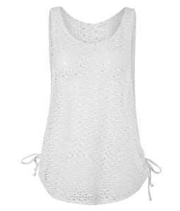 Áo lưới mặc bikini hoặc đi biển - Trắng