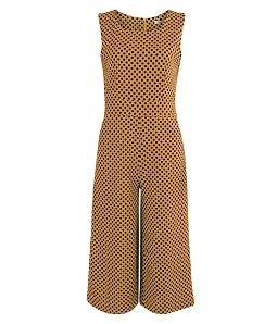 Bộ Jumpsuit chấm bi quần ngố thời trang - Vàng