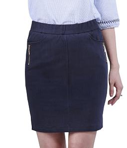 Chân váy jeans nữ phối khóa ĐAN CHÂU 784