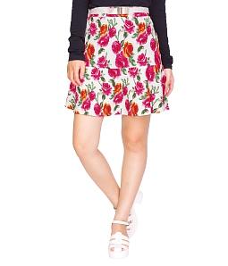 Chân váy xòe hoa Milaross MV285 - Hồng