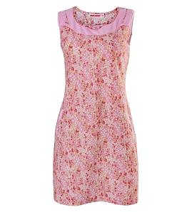Đầm mặc nhà họa tiết hoa hồng NITIMO 2020 - Hồng