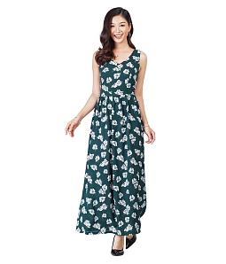 Đầm maxi họa tiết hoa nhí tươi mát