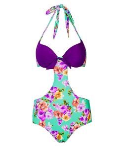 Đồ bơi Monokini CORAL thời trang OS008 - Tím