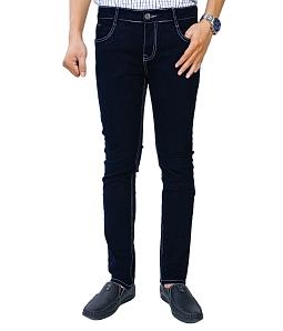 Quần jean nam chỉ nổi thời trang - Xanh đen