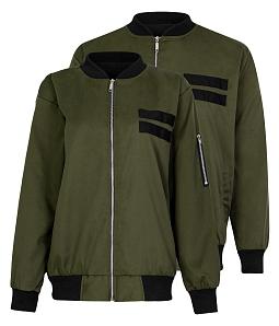 Áo khoác kaki Bomber nam nữ sành điệu - Xanh