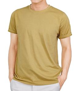Áo thun cotton basic siêu mát - Vàng