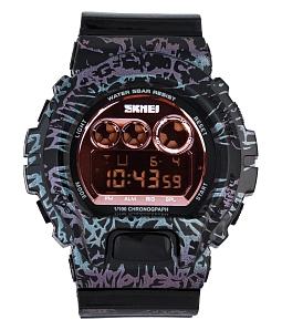 Đồng hồ điện tử nam nữ Skmei đa sắc - Đen