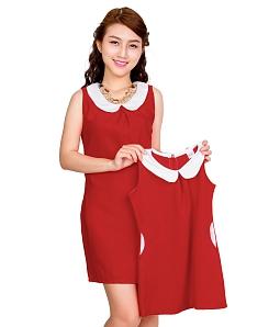 Set đầm mẹ và bé xinh xắn - Đỏ