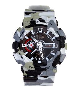 Đồng hồ điện tử nam nữ rằn ri Sport - Xám