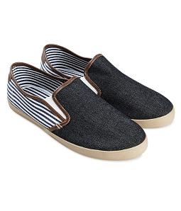 Giày lười nam gót sọc AQUA M123