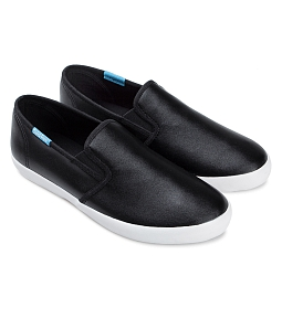 Giày slip on nữ QUICKFREE Lightly Syn 201 - Đen