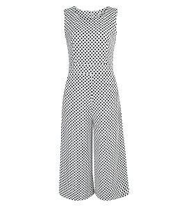 Bộ Jumpsuit chấm bi quần ngố thời trang - Trắng