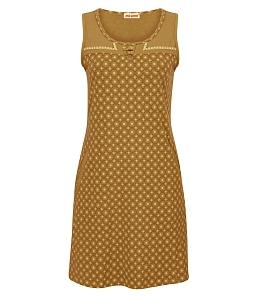 Đầm mặt nhà NITIMO hoa văn plus 2015DMNT - Vàng