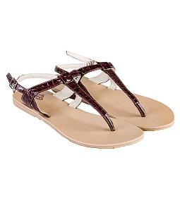 Giày Sandal nữ DVS xỏ ngón WS305 - Nâu