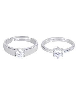Nhẫn cặp bạc 925 tình yêu sắc đá