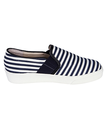 Giày Slip - on MUST Korea sọc unisex U05 - A8