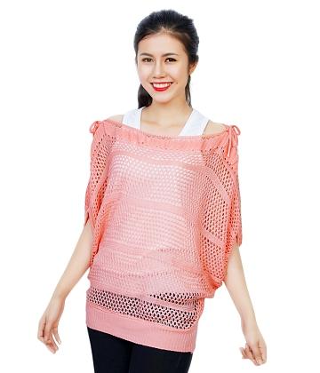 Áo len nữ thắt nơ vai SID31141