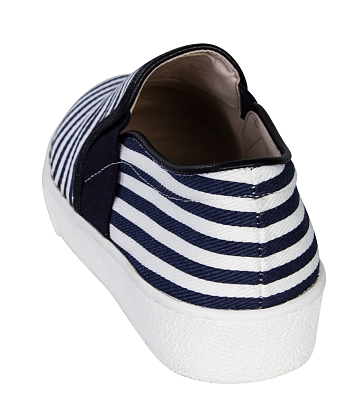 Giày Slip - on MUST Korea sọc unisex U05 - A9