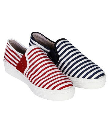 Giày Slip - on MUST Korea sọc unisex U05 - A12