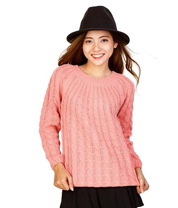 Áo len nữ móc dây thừng thời trang SID33815