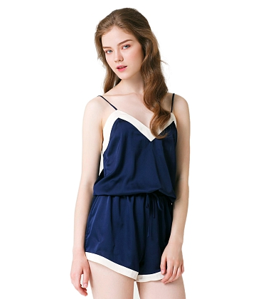 Bộ pajama short Silk Sleeping Romber CAN DE BLANC H17X3025