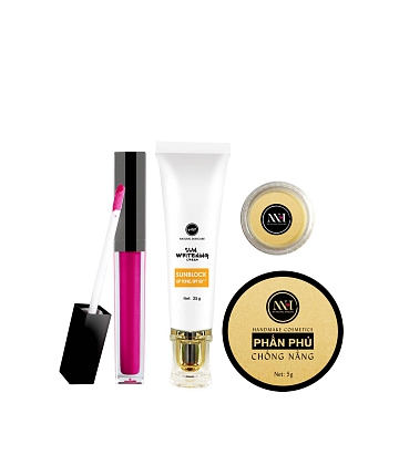 Combo make up MH Natural Skincare CBMK05 son hồng đất - A1