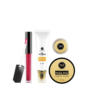 Combo make up MH Natural Skincare CBMK06 son hồng cam - A1
