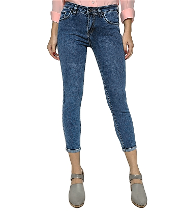 Quần skinny jeans lửng nữ AAA JEANS AL26 thumbnail