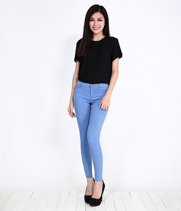 Quần skinny jeans nữ color