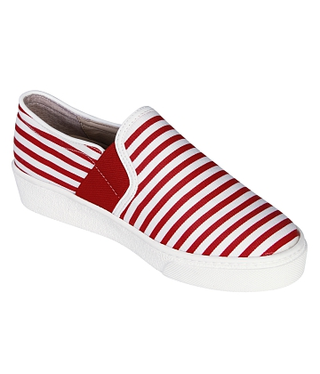 Giày Slip - on MUST Korea sọc unisex U05 - A1