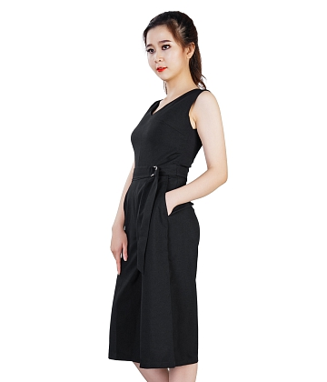 Jumpsuit cổ tim ống rộng KMODE - A1