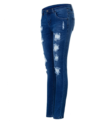 Quần skinny jeans rách nữ AAA JEANS XB - A1