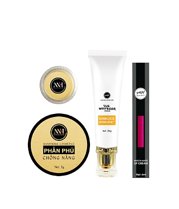 Combo make up MH Natural Skincare CBMK05 son hồng đất