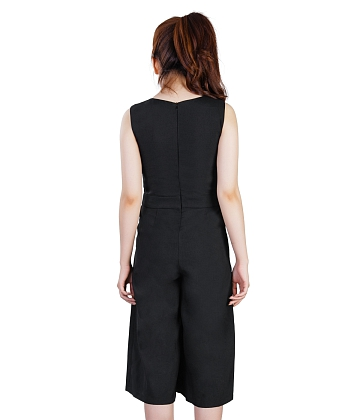 Jumpsuit cổ tim ống rộng KMODE - A2