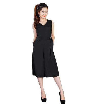 Jumpsuit cổ tim ống rộng KMODE - A3