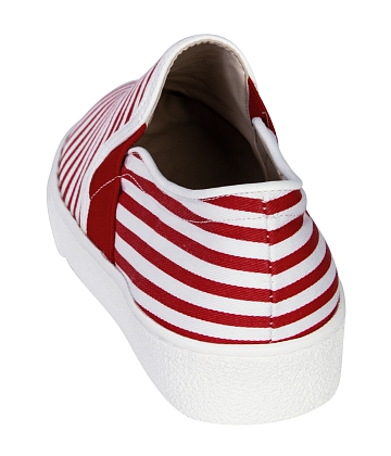 Giày Slip - on MUST Korea sọc unisex U05 - A3