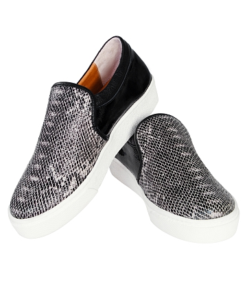 Giày Slip - on MUST Korea Unisex da rắn S02 - A5