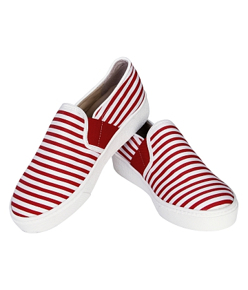 Giày Slip - on MUST Korea sọc unisex U05 - A5