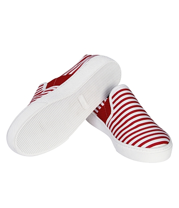 Giày Slip - on MUST Korea sọc unisex U05 - A4