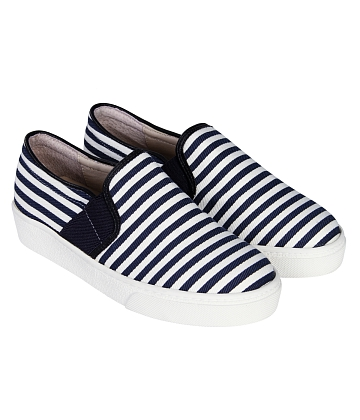 Giày Slip - on MUST Korea sọc unisex U05 - A6