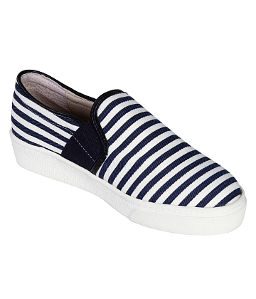 Giày Slip - on MUST Korea sọc unisex U05 - A7