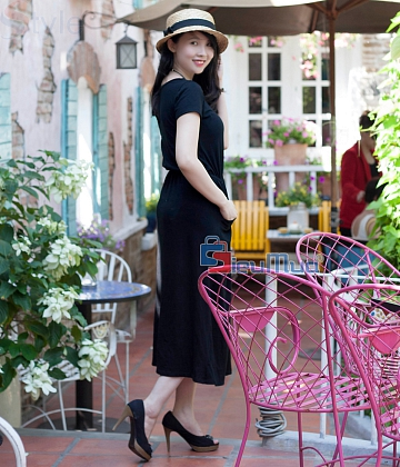 Đầm thun black fashion - A3