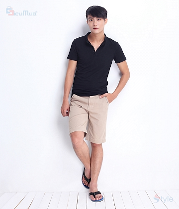 Quần short kaki nam color - A4